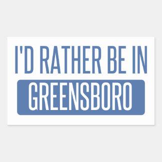 I'd rather be in Greensboro Rectangular Sticker
