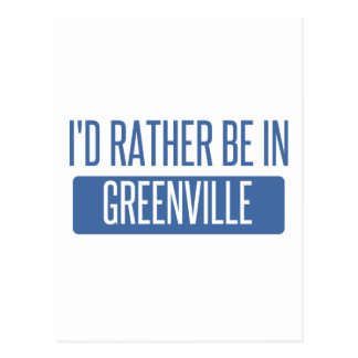 I'd rather be in Greenville MS Postcard