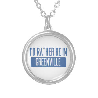 I'd rather be in Greenville MS Silver Plated Necklace