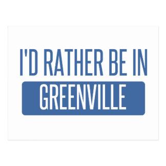 I'd rather be in Greenville SC Postcard