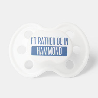 I'd rather be in Hammond Dummy
