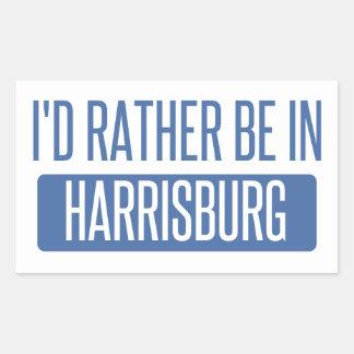 I'd rather be in Harrisburg Rectangular Sticker