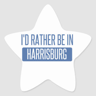 I'd rather be in Harrisburg Star Sticker