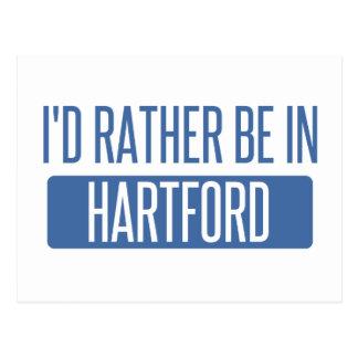 I'd rather be in Hartford Postcard