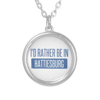 I'd rather be in Hattiesburg Silver Plated Necklace