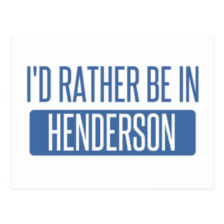 I'd rather be in Henderson Postcard