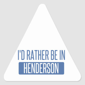 I'd rather be in Henderson Triangle Sticker