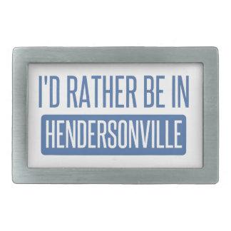 I'd rather be in Hendersonville Rectangular Belt Buckles