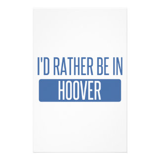 I'd rather be in Hoover Stationery