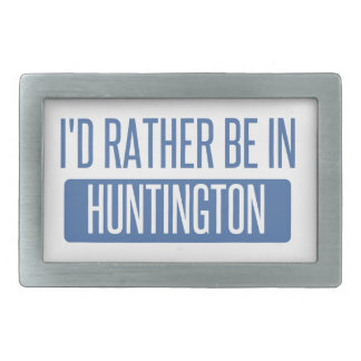 I'd rather be in Huntington Beach Rectangular Belt Buckles