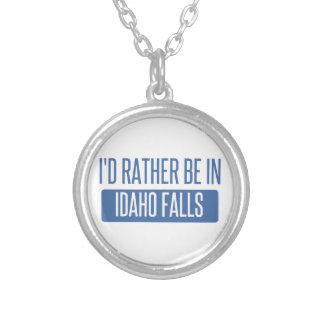 I'd rather be in Idaho Falls Silver Plated Necklace