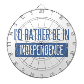 I'd rather be in Independence Dartboard