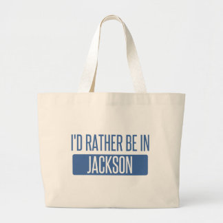 I'd rather be in Jackson TN Large Tote Bag
