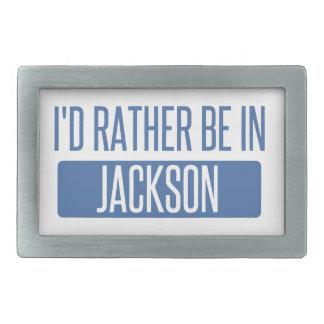 I'd rather be in Jackson TN Rectangular Belt Buckles