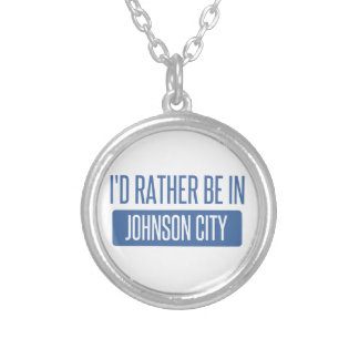 I'd rather be in Johnson City Silver Plated Necklace