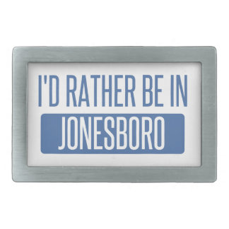 I'd rather be in Jonesboro Rectangular Belt Buckle