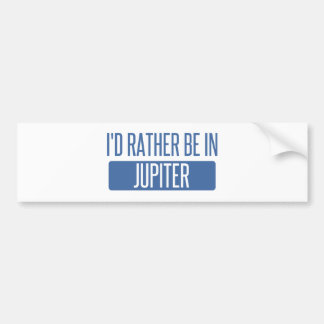 I'd rather be in Jupiter Bumper Sticker