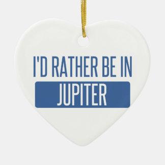 I'd rather be in Jupiter Ceramic Ornament