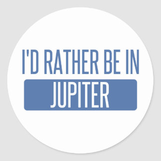 I'd rather be in Jupiter Classic Round Sticker