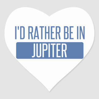 I'd rather be in Jupiter Heart Sticker
