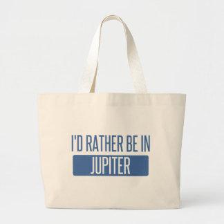 I'd rather be in Jupiter Large Tote Bag