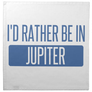 I'd rather be in Jupiter Napkin