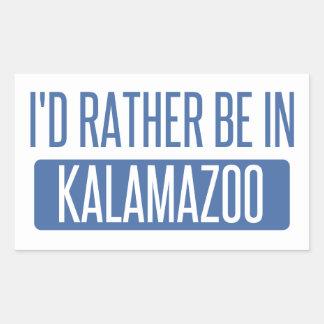 I'd rather be in Kalamazoo Rectangular Sticker