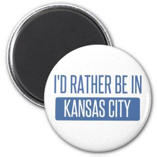 I'd rather be in Kansas City KS 6 Cm Round Magnet