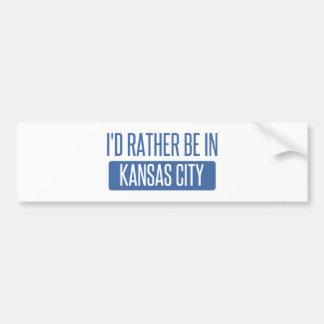 I'd rather be in Kansas City KS Bumper Sticker