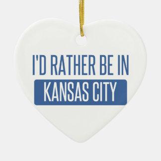 I'd rather be in Kansas City KS Ceramic Ornament