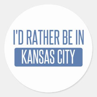 I'd rather be in Kansas City KS Classic Round Sticker