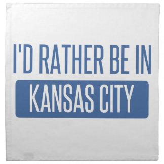 I'd rather be in Kansas City KS Napkin