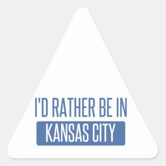 I'd rather be in Kansas City KS Triangle Sticker