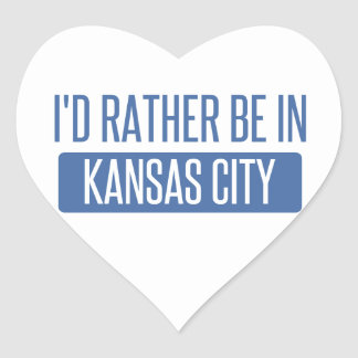 I'd rather be in Kansas City MO Heart Sticker