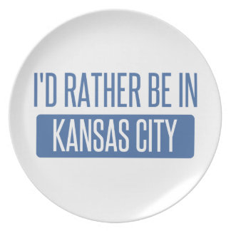 I'd rather be in Kansas City MO Plate