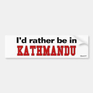 I'd Rather Be In Kathmandu Bumper Sticker