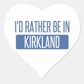 I'd rather be in Kirkland Heart Sticker