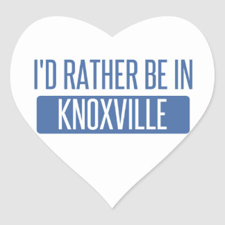 I'd rather be in Knoxville Heart Sticker