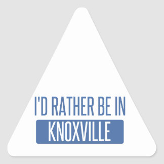 I'd rather be in Knoxville Triangle Sticker