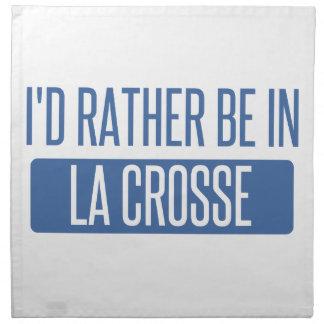 I'd rather be in La Crosse Napkin