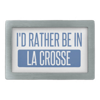 I'd rather be in La Crosse Rectangular Belt Buckles
