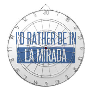 I'd rather be in La Mesa Dartboard