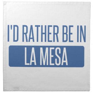 I'd rather be in La Mesa Napkin