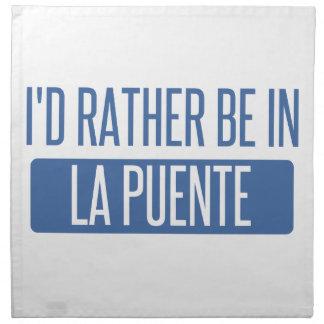 I'd rather be in La Puente Napkin