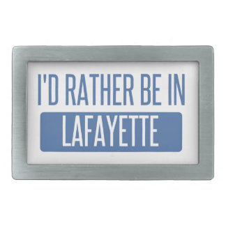 I'd rather be in Lafayette IN Belt Buckle