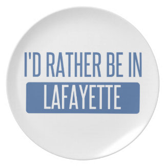 I'd rather be in Lafayette IN Plate