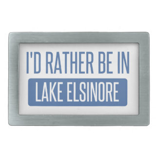 I'd rather be in Lake Elsinore Belt Buckle