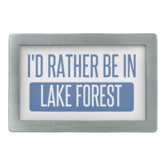 I'd rather be in Lake Forest Rectangular Belt Buckle