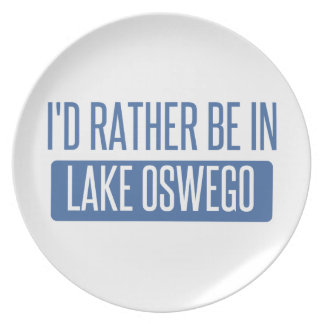 I'd rather be in Lake Oswego Plate