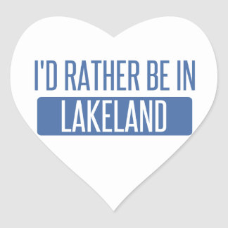 I'd rather be in Lakeland Heart Sticker